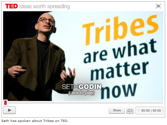 Seth Godin speaking on Tribes at TED