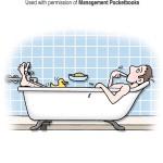 Thinking man in bath