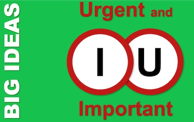 Urgent and Important - The Eisenhower Matrix